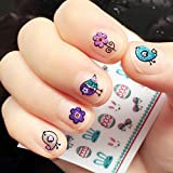 OULII Nail Stickers Glitter Powder Fun 3D Nail Stickers Decals DIY Valentine's Day gift for women girls, Pack of 10