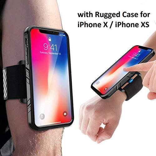 SPORTLINK Run Kit per iPhone X / iPhone XS, Supporto del Braccialetto Sport Armband Fascia da Braccio, Custodia Flessibile Combo per Corsa Esercizi Jogging Palestra e Altro ( Nero )