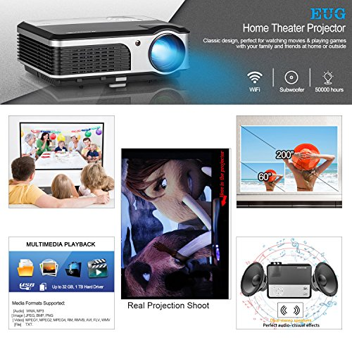Compare Prices for Video Gaming Projector Portable LED LCD Home Theater Proyector 1080P Support with USB HDMI Port Home Cinema TV Entertainment Projectors for PC Laptop DVD Blu Ray Player Reviews
