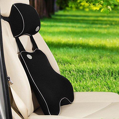 Auto interni memoria schiuma riempito cusion vita posteriore risolvibile cusion proteggendo vertebra cervicale , black