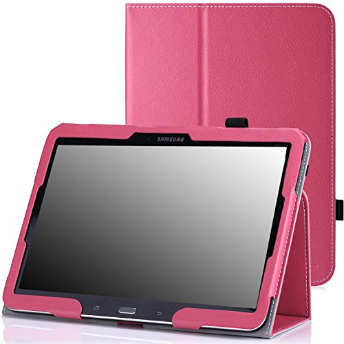 MoKo Samsung Galaxy Tab 4 10.1 / Tab 3 10.1 Hülle - PU Leder Tasche Schutzhülle Smart Cover mit Stift-Schleife/Standfunktion für Galaxy Tab 4 10.1