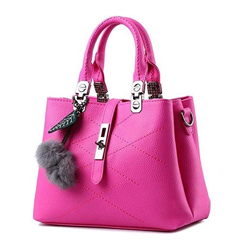HQYSS Borse donna Borsa trendy classico dolce signora spalla Messenger , light gray rose red