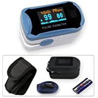 Preisvergleich für Fingerpulsoximeter MD300C29 mit OLED-Anzeige *Farbe: blau/weiss