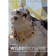 Wilde Polygone (Tischkalender 2016 DIN A5 hoch): 12 Tierportraits in faszinierendem Polygon-Look (Monatskalender, 14 Seiten ) (CALVENDO Tiere)