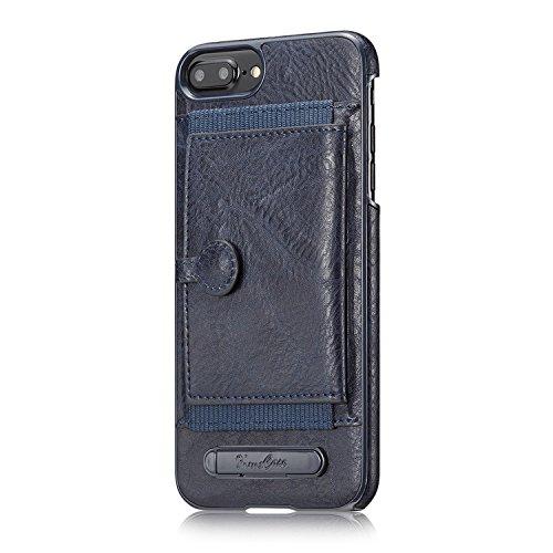 Cover per iPhone 7 Plus Portafoglio,Custodia per iPhone 8 Plus, Bonice Plaid Leather Flip Cover Copertura con Morbido Silicone Case e Porta carte di credito Con Supporto Borsa del Telefono Custodia in Modello 10