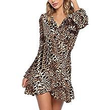 69686073a beautyjourney Mini Vestido con Cuello de Pico para Mujer