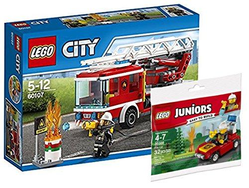 Lego City 60107–Camión de bomberos con escalera + Lego Juniors