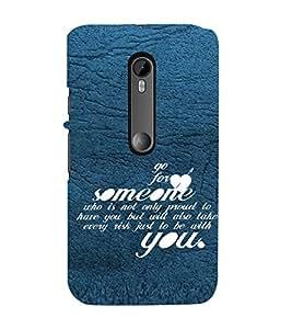 PrintVisa Designer Back Case Cover for Motorola Moto G3 :: Motorola Moto G (3rd Gen) :: Motorola Moto G3 Dual SIM (Love Defining Quote)