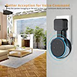 Sonomo Wall Mount Holder Hanger for Dot 3rd Generation, Space-Saving without Messy Wires or Screws, Compact Socket Stand Case Plug in Kitchens, Bathroom and Bedroom - Black