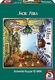 Schmidt Spiele 59279 - Der Jahreszeiten-Garten, Jacek Yerka, Quadratpuzzle, 1000 Teile