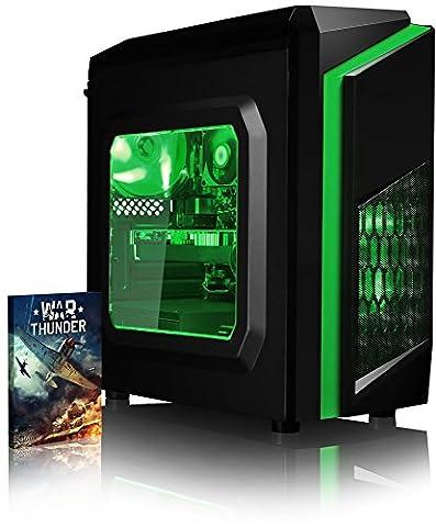 VIBOX Killstreak RL960-63 Gaming PC - 4,2GHz AMD FX 8-Core CPU, RX 460 GPU, leistungsfähig, Hochleistung, leistungsstärker, Spec, Desktop Gamer Computer mit Spielgutschein, Grün Innenbeleuchtung, lebenslange Garantie* (4,0GHz (4,2GHz Turbo) Superschneller AMD FX 8350 Octa 8-Core Prozessor CPU, MSI AMD Radeon RX 460 2GB Grafikkarte, 8GB DDR3 1600MHz RAM, 2TB (2000GB) SATA III 7200rpm Festplatte, 400W 85+ Netzteil, CIT F3 Grün Gaming Geh§use, AM3+ Mainboard, Ohne Windows Betriebssystem)