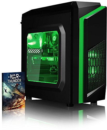 VIBOX Killstreak GL970-91 PC Gamer - 4,2GHz CPU 8-Core AMD FX, GTX 1070, VR prêt, 4K, Avancée, Ordinateur PC de Bureau Gaming paquet de jeux, unité centrale, Éclairage Interne Vert (4,0GHz (4,2GHz Turbo) Processeur CPU Huit 8-Core AMD FX 8350 Ultra Rapide, Carte Graphique Haute Performance Nvidia GeForce GTX 1070 8 Go, 8 Go Mémoire RAM DDR3 1600MHz Grande Vitesse, Disque Dur Sata III 7200rpm 1 To (1000 Go), PSU Aerocool 600W 85+, Boîtier Gamer CIT F3 Vert, Pas de Système d'Exploitation Windows)