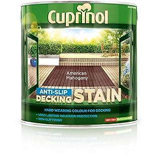 Cuprinol 2.5L Anti Slip Decking Stain - American Mahogany