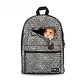 Injersdesigns mochila casual bolsas de escuela de lona para los niños mochilas animales patrón bookbags para las niñas adolescentes chicos mujeres hombres viajes mochila portátil (CA5421J)
