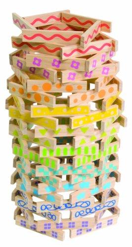 Boikido 80913007 - Konstruktions-Set aus Holz. 100-teilig. ab 18 Monate. verschiedene Farben