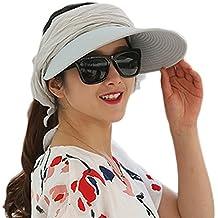 JUNGEN Sombrero de las mujeres viseras sombrero de paja sombrero de sol  para actividades al aire 5ba032dbdcc
