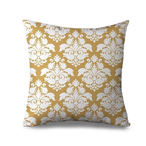 Giallo federa per divano decorativo damasco copertura