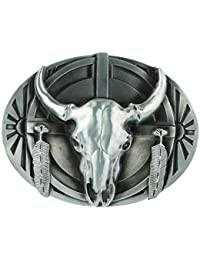 FITYLE Ovale Forme Amant Des Animaux Amérique Western Cowboy Ceinture Boucle  Jeans Bijoux Bijoux df15847bef1