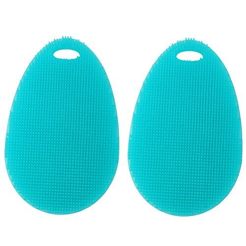 BESTOMZ Silikon Spülschwamm Waschbürste Wäscher 2 Stück Haushaltsreiniger Schwämme