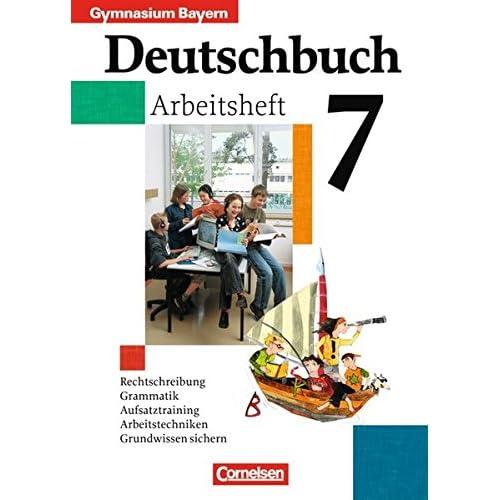 Pdf Deutschbuch Gymnasium Bayern 7 Jahrgangsstufe Arbeitsheft