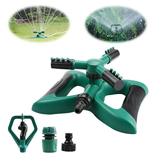 Rasensprenger, Yokunat 360 ° 3-Arm drehbar Garten Wasser stylischer System mit 2 verschiedene Düse...