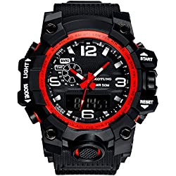 Men's large dial/Waterproof digital watches/Stylish multi-function watch-B