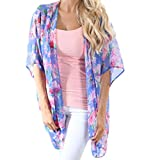 MIRRAY Damen Flower Print Bluse Bademode Strand Badeanzug Smock Tops Bikini
