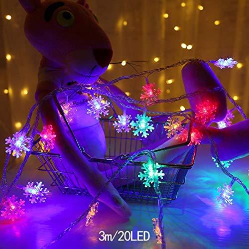 INKEME LED Decorative Lights Fiocchi di Neve Forma Natale Xmas Tree Lights Luci per Esterni