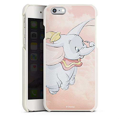 Apple iPhone 7 Lederhülle Leder Case Leder Handyhülle Disney Dumbo Fanartikel Merchandise Leder Case weiß
