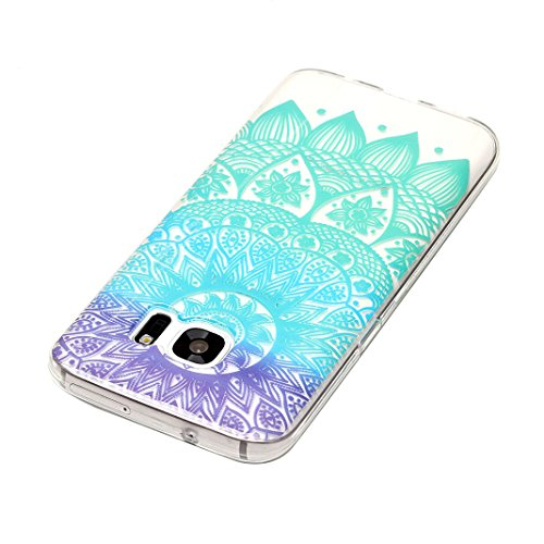 Hülle Galaxy S7, Asnlove Neue Modelle Crystal Case Handy Schutzhülle TPU Silikon Transparent Schutz Handy Hülle Case Tasche Etui Bumper für Samsung Galaxy S7 G930, Lace Color-1