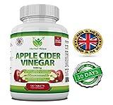 Aceto di sidro di mele 500mg 120 compresse | Promuove la perdita di peso | Made in the United Kingdom