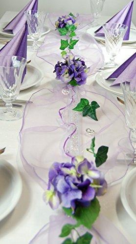 Fibula [Style]  Komplettset 'Hydrangea' flieder - lila Größe M Tischdekoration für Geburtstag/Party/Hochzeit/Taufe/Kommunion/Konfirmation/Jubiläum usw. in lila/flieder für ca. 16 - 20 Personen