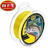 WFT TF8 Zander yellow 150m - Angelschnur zum Zanderangeln, geflochtene Schnur, Zanderschnur zum Spinnfischen, Durchmesser/Tragkraft:0.12mm / 8kg Tragkraft