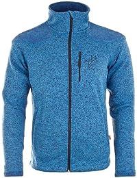 Twentyfour seven veste pour homme chaude en maille polaire avec épaules contrastées