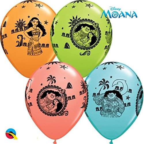 """5 x Moana (Vaiana) 11"""" Latex Balloons 0018227605991"""