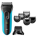 Braun Series 3 Shave&Style 3010BT 3-in-1 Electric Wet&Dry Shaver with Precision Trimmer & 5 Comb Attachments