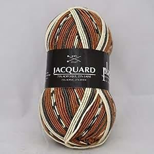 Plassard - Pelote de laine à tricoter JACQUARD - Plassard - Marron 824