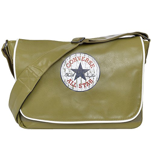 Converse Vintage Patch Shoulder - Bolso bandolera, color marrón, talla One Size