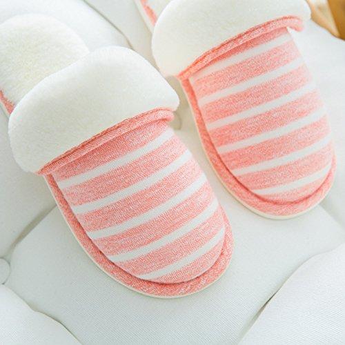 YMFIE Accueil chaleureux à lintérieur simple coton chaussons chaussons amoureux étage chaussures D