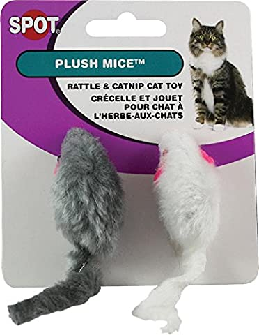 ethischen Plüsch Mäuse mit Rassel und Katzenminze Katzenspielzeug, 2er Pack