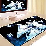 DS-L mousepad große verlängerung, dick und süße anime - spiele office keyboard tafel matte,schwarze splash frauen 90 * 40 cm,900x400mm,3