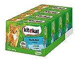 Kitekat Katzenfutter Nassfutter Adult für erwachsene Katzen FischBox in Gelee