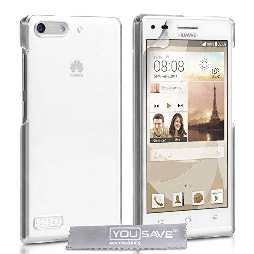 Yousave Accessories® Huawei Ascend G6Hülle (3G Modell Nur) Kristall klar Transparent Hard Case Cover