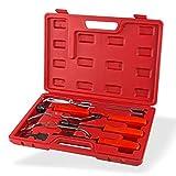 DeTec Bremsen Montagewerkzeugsatz Bremsenmontage Montagewerkzeug Bremsbelag Montage Einstell Werkzeug Bremsfederzange 8-tlg. im Koffer
