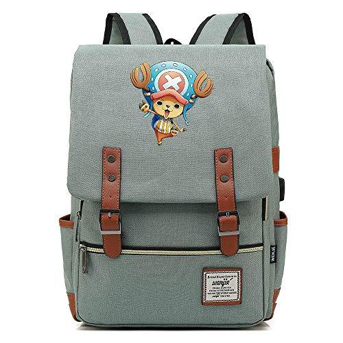 Green Jugend Kostüm Mann - JJJDD One Piece Jugend Student USB Tasche 16 Zoll Freizeit Reisetasche @Light Green_16 Zoll
