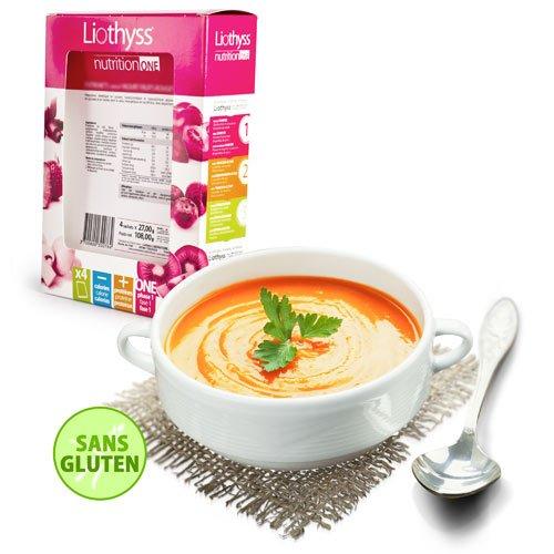 Liothyss nutrition - Soupe Tomate - Sans Gluten - Boîte de 4 sachets