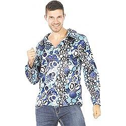 Camisa psicodélica azul