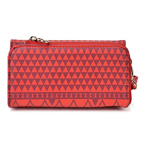 Kroo Pochette/étui style tribal urbain pour Prestigio MultiPhone 8400Duo jaune rouge