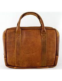 LE MECANOGRAPHE sacoche PC/MAC sac ordinateur 13 pouces cuir couleur naturel PAUL MARIUS