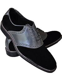 Galax - Derbies noirs et gris pour homme. Chaussures Casual .